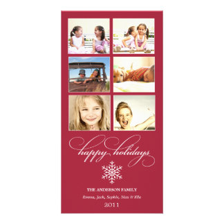 SNOWFLAKE COLLAGE   HOLIDAY PHOTO CARD