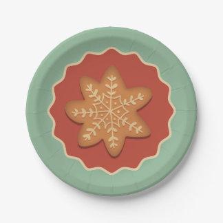 Snowflake Cookie Paper plates