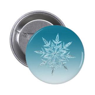 Snowflake Crystal 6 Cm Round Badge
