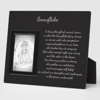 Snowflake Crystal Fairy Plaque