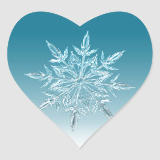 Snowflake Crystal Heart Sticker
