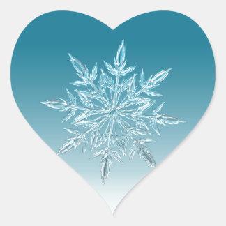 Snowflake Crystal Heart Sticker