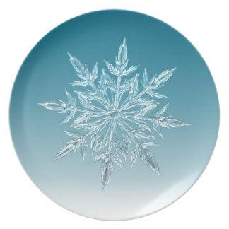 Snowflake Crystal Plate