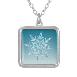 Snowflake Crystal Silver Plated Necklace
