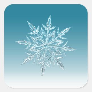 Snowflake Crystal Square Sticker