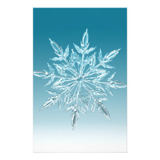 Snowflake Crystal Stationery