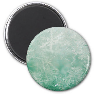 Snowflake Crystals 6 Cm Round Magnet