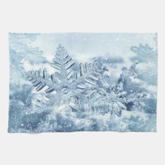 Snowflake Crystals Kitchen Towel