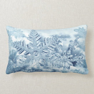 Snowflake Crystals Lumbar Pillow
