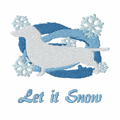Snowflake Dachshund Embroidered Shirt (Hoodie)