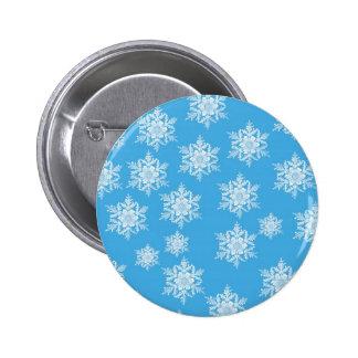 Snowflake Design 6 Cm Round Badge