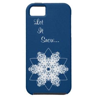 Snowflake Design 7 Tough iPhone 5 Case