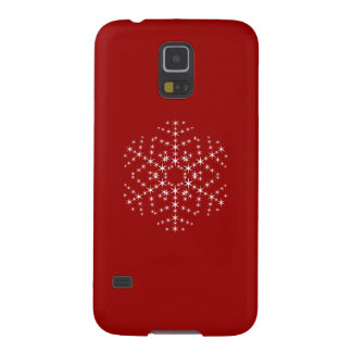 Snowflake Design in Dark Red and White. Cases For Galaxy S5