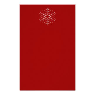 Snowflake Design in Dark Red and White. Stationery