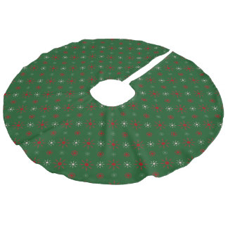 Snowflake Design Faux Linen Tree Skirt