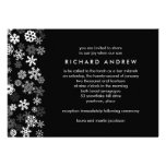 Snowflake Edge Bar Mitzvah Personalised Invite