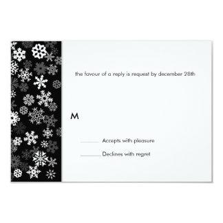 Snowflake Edge Bar Mitzvah Reply Card