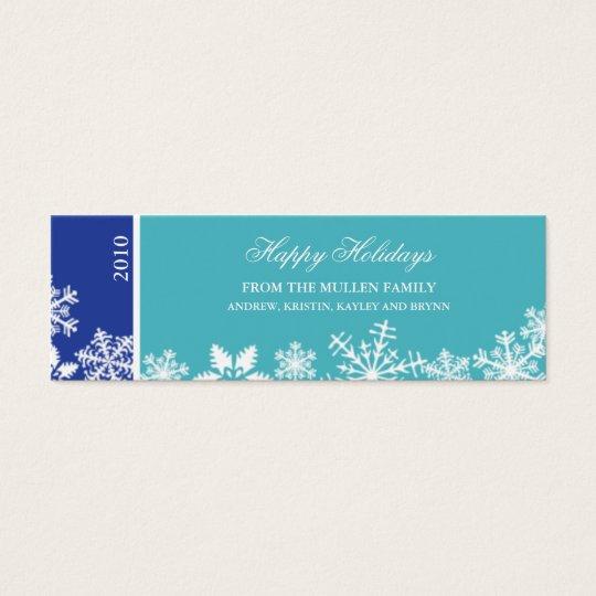 Snowflake Edge Holiday Gift Tag