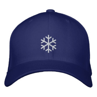 Snowflake Embroidered Hat