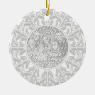 Snowflake Engagement Photo Ornament