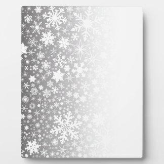 Snowflake Fade Plaque