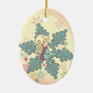 Snowflake Fairy Christmas Ornament