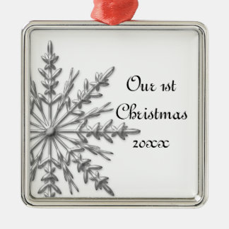 Snowflake First Christmas Together Christmas Ornament