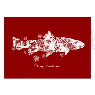 Snowflake Fish Holiday Greeting Card