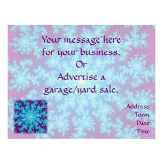 Snowflake Fractal: Aqua Blue 21.5 Cm X 28 Cm Flyer