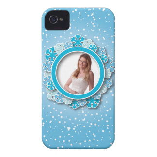 Snowflake frame iPhone 4 Case-Mate cases