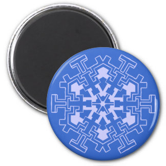 Snowflake fridge magnet