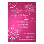 Snowflake Fuschia Bridal Shower Custom Invites