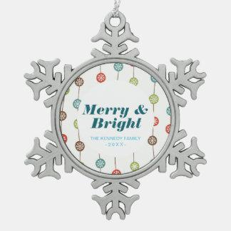 Snowflake Garland Snowflake Pewter Christmas Ornament