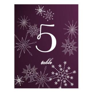 Snowflake Gems/ Table Card Postcard