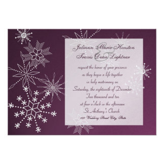 Snowflake Gems Wedding Personalized Announcement