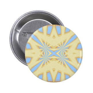 Snowflake - Geometric Abstract 6 Cm Round Badge