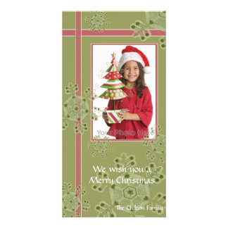 Snowflake gift christmas hoilday photocard picture card