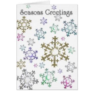 Snowflake Greetings Card