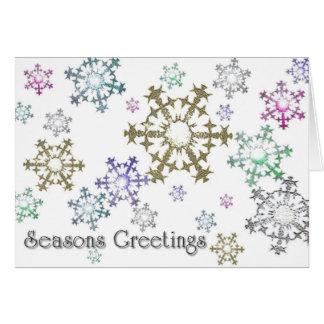 Snowflake Greetings (wide) Card