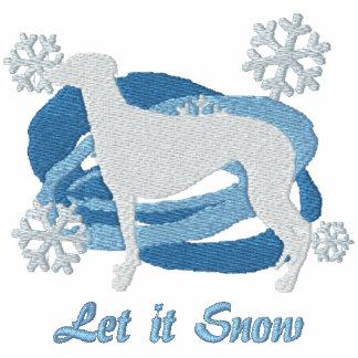 Snowflake Greyhound Embroidered Hoodie