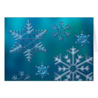 Snowflake H Greeting Card