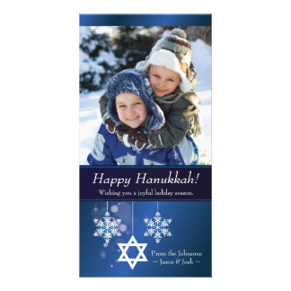 Snowflake Hanukkah Photo Card