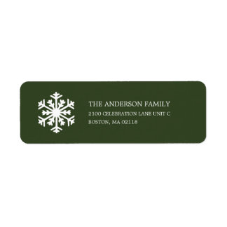 SNOWFLAKE  | HOLIDAY ADDRESS LABELS