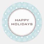 Snowflake Holiday Envelope Seals Round Sticker