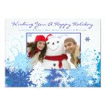 SNOWFLAKE Holiday Family Photo Greeting Card