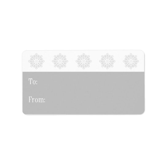 Snowflake Holiday Gift Tags-silver Address Label