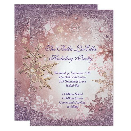 Snowflake Holiday Party Invitations