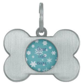 Snowflake Holiday Pet Tag