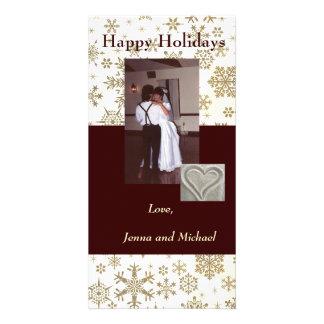 Snowflake Holiday Photo Card