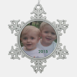 Snowflake Holiday Photo Ornament
